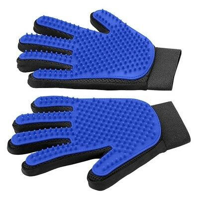 NEW STYLE DOG GROOMING GLOVES HC PET 1 PAIR BLUE with LONGER NEEDLES