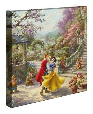 Thomas Kinkade Studios Snow White Dancing In The Sunlight 14 x 14 Canvas Wrap