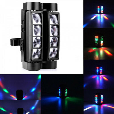 80W RGBW 8LEDs Spider Beam Moving Head Stage Lighting DMX Disco DJ Party Light