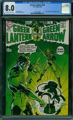 Green Lantern 76 CGC 8.0 - OW/W Pages