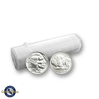 Lot of 50 -- New 1/10 oz Indian Buffalo Design .999 Fine Silver Rounds Tube Roll