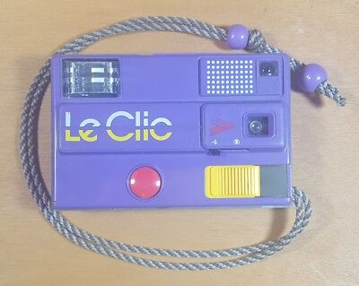 Vintage Le Clic Purple Camera Powers On