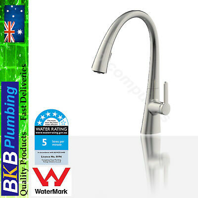 Wells Kitchen Sink Mixer Tap Faucet Pull Out Spout Brass Nickel Brushed/Glossy