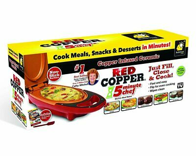 New - Red Copper 5 Minute Chef - As Seen On Tv - Genuine Product- Australia