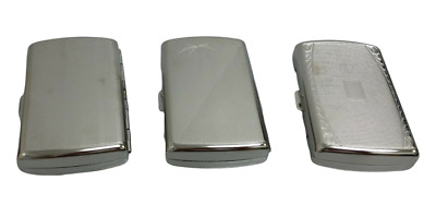 Stainless Steel Filagree Pattern Cigarette Case Holds 16 Cigarettes Smoking