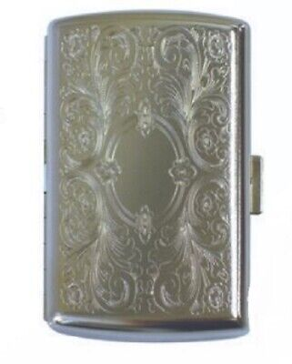 Metal Double Sided 12 Cigarette Case Tin Hard Case Tobacco Holds 12 cig