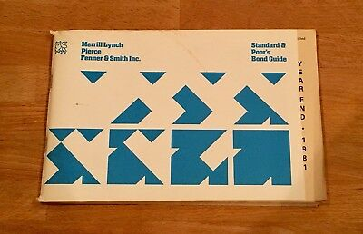 1981 Year End Standard & Poor's (S&P) Bond Guide for Merrill Lynch
