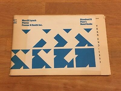 1980 Year End Standard & Poor's (S&P) Bond Guide for Merrill Lynch