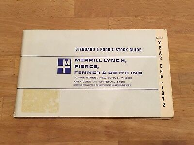 1972 Year End Standard & Poor's (S&P) Stock Guide for Merrill Lynch