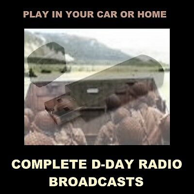 Complete D-Day Cbs & Nbc Radio Broadcasts. Listen In Your Car Or At Home!