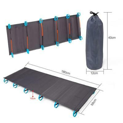 Outdoor Portable Folding Camping Cot Bed Ultralight Ground Tent Bed WQ *T