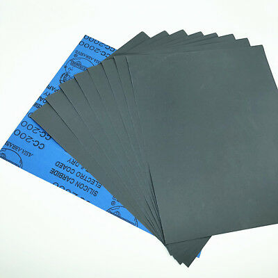 Wet dry Sandpaper Sheets 400/600/800/1000/1500/2000/3000/5000/8000 Grit 9''x11''