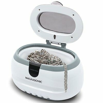 Professional Ultrasonic Jewelry and Eyeglass Cleaner Cleaning Machine White new