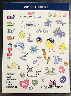 Vineyard Vines 2018 Sticker Page with 30+ stickers ~ New!