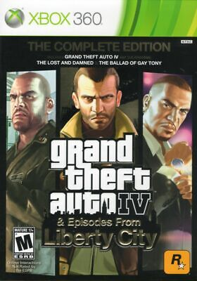 Grand Theft Auto IV - Complete Edition (Microsoft Xbox 360, 2010) with Case