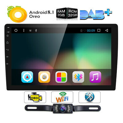 "10.1"" Double 2 DIN Car Android 8.1 Stereo Radio Auto Player 4G WIFI GPS CAMERA"