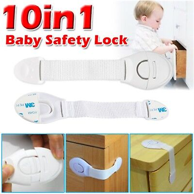 10X Baby Kid Child Toddler Safety Lock Proof Cabinet Drawer Fridge Pet Cupboard