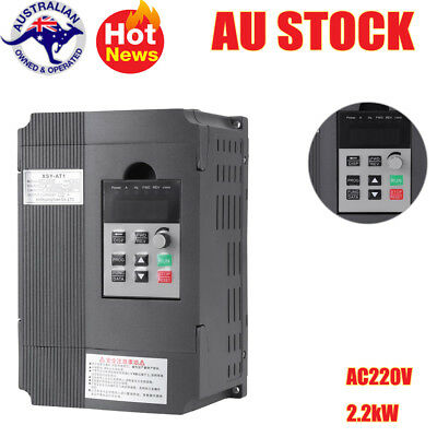 220V Variable Frequency Drive VFD Speed Controller for 3-phase 2.2kW AC Motor AU