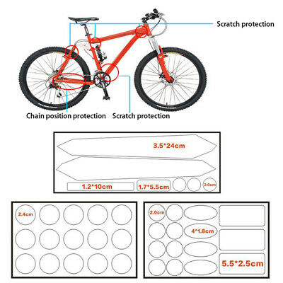 Bicycle Chain Anti-Scratch Bike Protective Sticker Paster Cycling Frame Protect