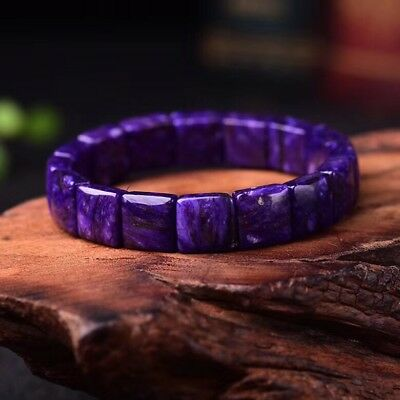 12*6mm Top Quality Natural Purple Charoite Crystal Gemstone Beads Bracelet AAA