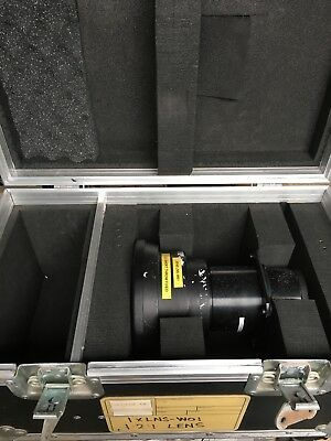 Sanyo LNS-W01 1.2:1 Short Throw Fixed Focus Lens for XF Projectors + Flightcase