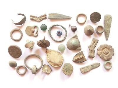 Lot of Misc. Ancient Bronze / Glass Artifacts @$@$