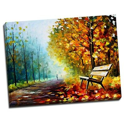 Maple Trees Stretched Canvas Abstract Art Painting Wall Home Decorative Framed