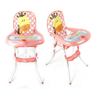 Foldable Baby Feeding Highchair High Chair Height Adjustable Seat Home&Travel