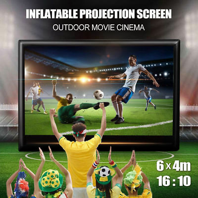 6mx4m Movie Screen Inflatable Giant Outdoor Projector Cinema Backyard Theatre UK