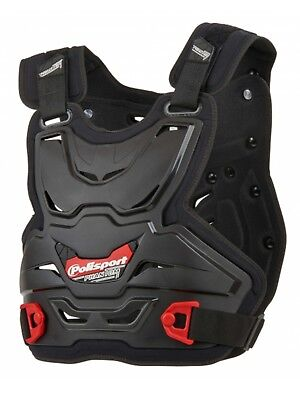Polisport Phantom Lite Adult Mx  Body Armour Chest Roost Protector Guard Black