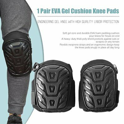 2X Gel Filled Knee Pads For Work Professional Gel Knee Pads+Adjustable Strap L0