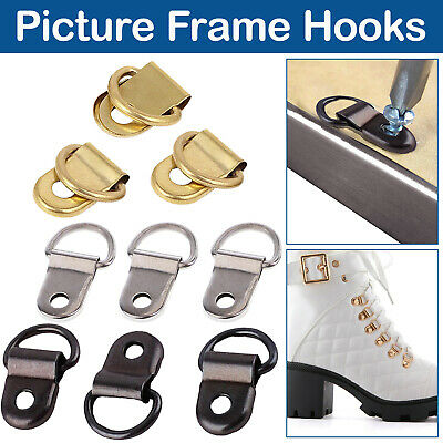 Classic D Rings Nickel Picture D-Rings Picture Frame Hooks Hanging Fixing Frames