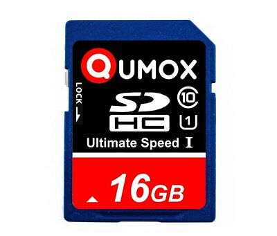 16GB QUMOX 80MB/s Class 10 UHS-I SDHC SD Speicherkarte HC Card Karte 16 GB Aug