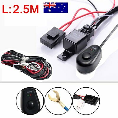 LED HID Work Driving Light Wiring Harness Kit Fog Spot Work Light Switch AU