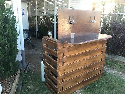Beer Bar recycled timber one of a kind set up for kegs