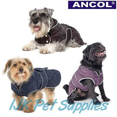 Ancol All Weather Muddy Paws Dog Puppy Quilt Quilted Coat Jacket