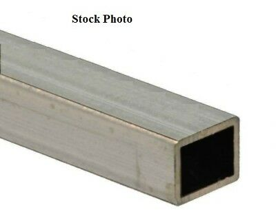 """1.25"""" x 1.25"""" x 38"""" x .125"""" wall 316L Stainless Steel Square Tube 1"""" x 1"""" ID"""