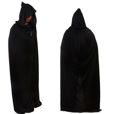 "ADULT 66.92"" HOODED LONG CLOAK FANCY DRESS COSTUME CAPE WITH HOOD World Book Day"