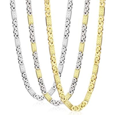 6/8mm Men Boy Gift Stainless Steel Chain Byzantine Necklace or Bracelet Hip Hop