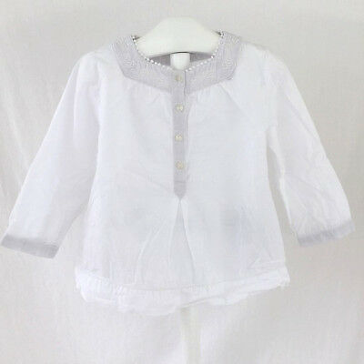 Blouse blanche MIRACLE OF LOVE 18 mois (dep223 20093)