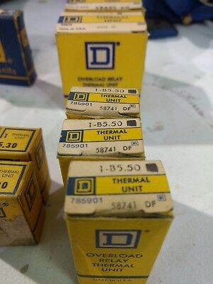 Square D B 5.50 overload relay Thermal Unit- Lot of 3