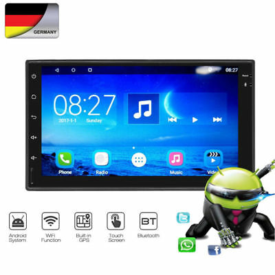 "Android 8.0 2Din 7"" Autoradio Stereo GPS Sat Navi WIFI Bluetooth MP5 Player 16GB"