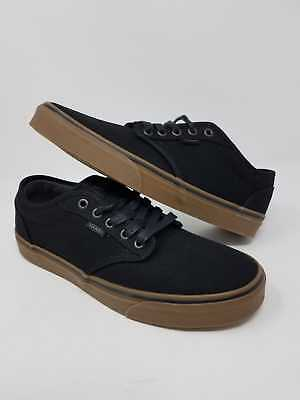 3176a80b2b98 Vans Atwood 12 Oz Canvas Black Gum Casual Athletic Skate Men s Size 9 New  Wob