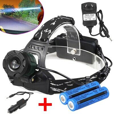 35000lm LED Headlamp Rechargeable 18650 Headlight T6 Head Torch Light Camping