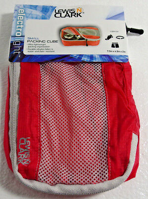 LEWIS N CLARK ElectroLight Packing Cube Small Red Luggage Lightweight Travel