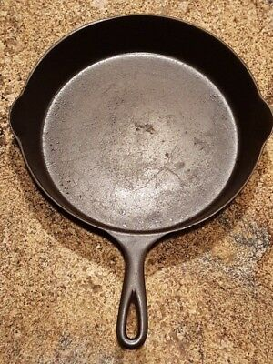 Vintage Restored Antique WAPAK #9 Cast Iron Skillet with Heat Ring