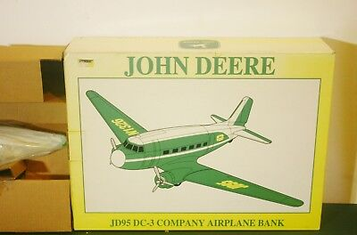 Spec Cast John Deere 45020 JD95 DC-3 Company Collectible Airplane Bank