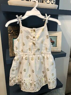 e8efd2578a2c Carter's Baby Girls White Gold Foil Print Dress 12 Months NWOT Free  Shipping!