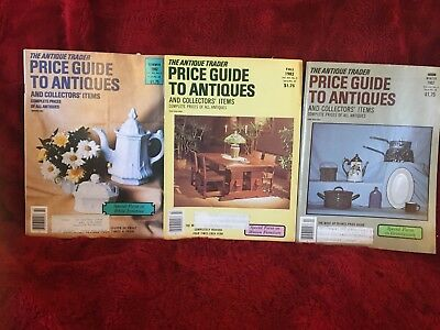 Lot 3 ANTIQUE TRADER PRICE GUIDE To Antiques 1982