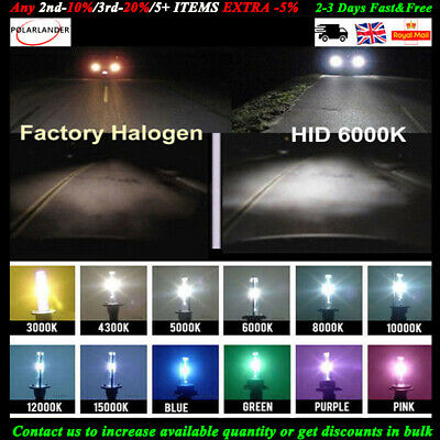 55W HID H1 H3 H4 H8 H7 Bulbs KIT Xenon Conversion Headlight Canbus Error Free